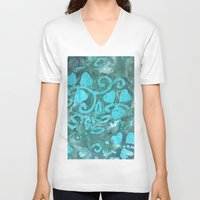 clover V-neck T-shirts featuring Clover by ALICE-CAT