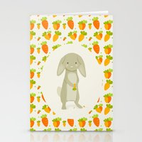 rabbit Stationery Cards featuring Rabbit by Jane Mathieu
