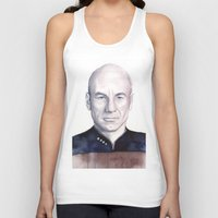 picard Tank Tops featuring Captain Picard by Olechka