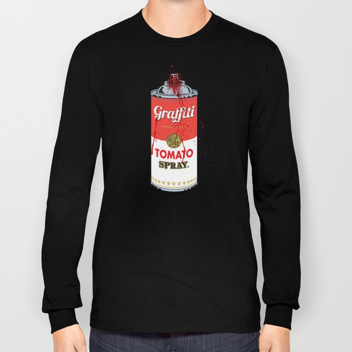 Graffiti Tomato Spray Can Long Sleeve T-shirt