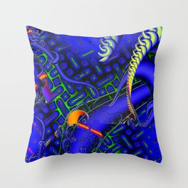 Tricky Bugger 3D Psychedelic Throw Pillow
