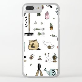 Gardener's tools Clear iPhone Case