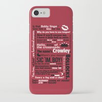 crowley iPhone & iPod Cases featuring Supernatural - Crowley Quotes by natabraska