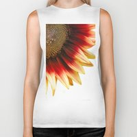 sunflower Biker Tanks featuring Sunflower by Wood-n-Images