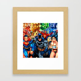 a collection of heroes Framed Art Print
