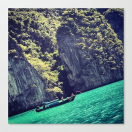 Thailand Koh Phi Phi Travel Trip Boat View Water Canvas Print