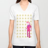 gumball V-neck T-shirts featuring Adventure Time - Prince Gumball by LightningJinx