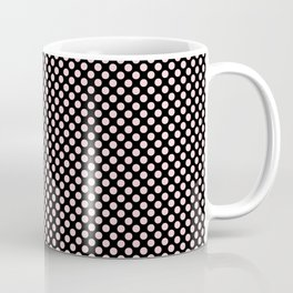 Black and Bridal Blush Polka Dots Coffee Mug