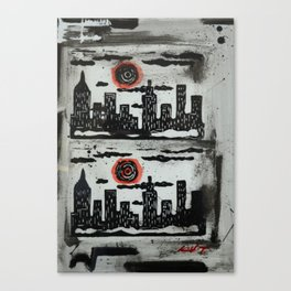 Red Sun Red Moon Canvas Print