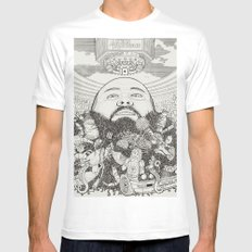ACTION BRONSON White Mens Fitted Tee MEDIUM