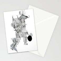 Abstract Line Drawing Stationery Cards