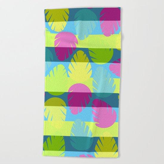 Tropical stripes II Beach Towel