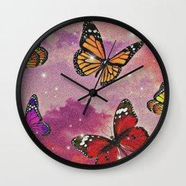 Aesthetic Butterflies Wall Clock