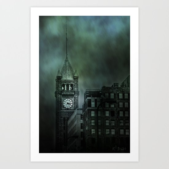 Spotlight On Time Art Print