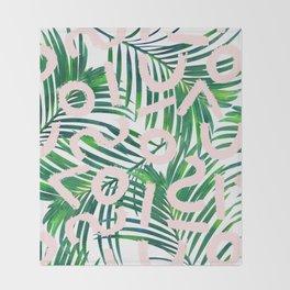 Palm Blabber #society6 #decor #buyart Throw Blanket
