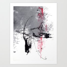 a red moment - response 3rd Art Print