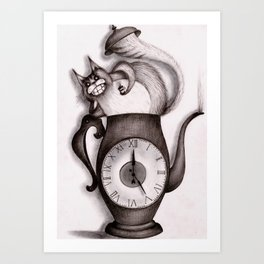 Wonderland: Madness cat-tea Art Print