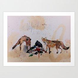 Foxes at four in the morning (Le Volpi del quattro di mattina) Art Print