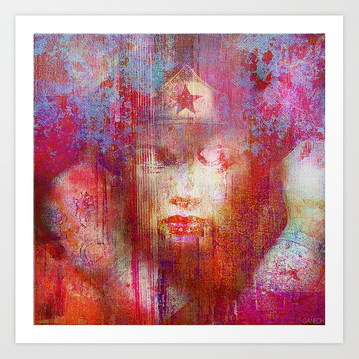 Wonder Abstract Woman Art Print By Ganech