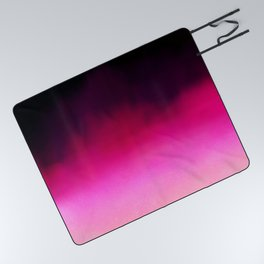 Purple and Black Abstract Picnic Blanket