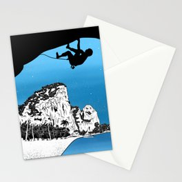 Rock climbing Thailand Stationery Cards