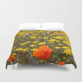 Patches of Gold Duvet Cover