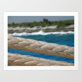 Rope by the sea Art Print