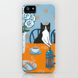 Cats and a French Press iPhone Case