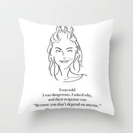 I Smiled Throw Pillow