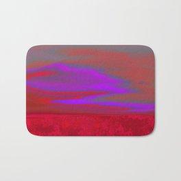 """Twilight Meadow"" (Red/Purple) Digital Painting // Fine Art Print Bath Mat"