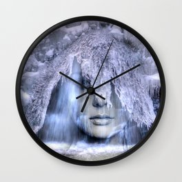 Iceberg girl Wall Clock