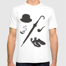 Gentleman's Accoutrements MEDIUM Mens Fitted Tee White