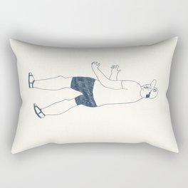 boy in a B cap Rectangular Pillow