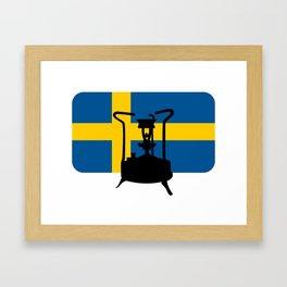 Sweden flag | Pressure stove Framed Art Print