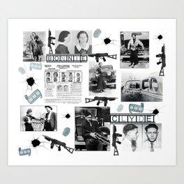 Bonnie And Clyde Art Print