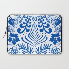 Mexican Folk Floral Ornaments Laptop Sleeve