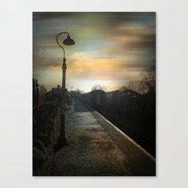 Bitton Railway Platform Canvas Print