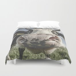 Inquisitive Cow Duvet Cover