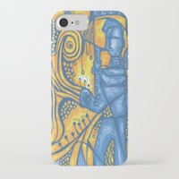 saxophone iPhone & iPod Cases featuring Saxophone by tempehmonster