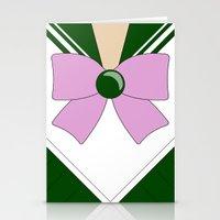 sailor jupiter Stationery Cards featuring Sailor Jupiter by kscullington | kristina anne