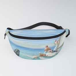Ground Swell OIl Painting by Edward Hopper Fanny Pack