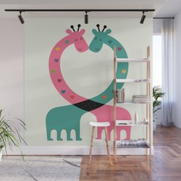 Love With Heart Wall Mural