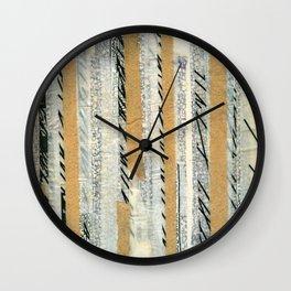 mosmith word collage Wall Clock