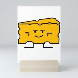 Block of Cheese mac dairy milk protein fat wedge Mini Art Print