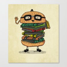 Geek Burger v.2 Canvas Print