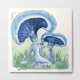 Empire of Mushrooms: Lactarius indigo Metal Print
