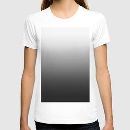 White to Black Horizontal Linear Gradient T-shirt