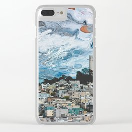 Starry Coit Tower Clear iPhone Case