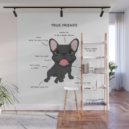 True Friends - Blue Frenchie Wall Mural