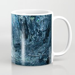 A Clearing Through The Swamp Acrylics On Stretched Canvas  Coffee Mug
